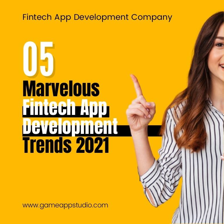 Fintech app development trends 2021