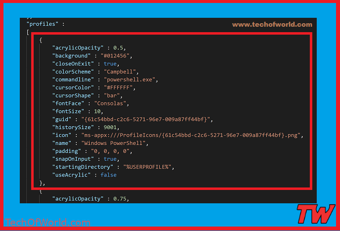 How to add custom command line in Windows Terminal